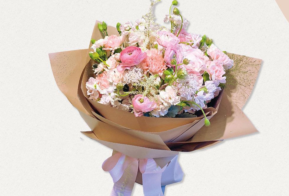 錫哂媽媽粉色系花束