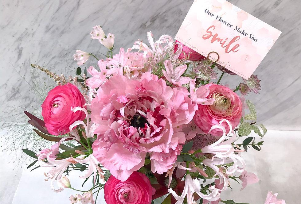 Rouge 柔蜜花粉 粉紅調枱花