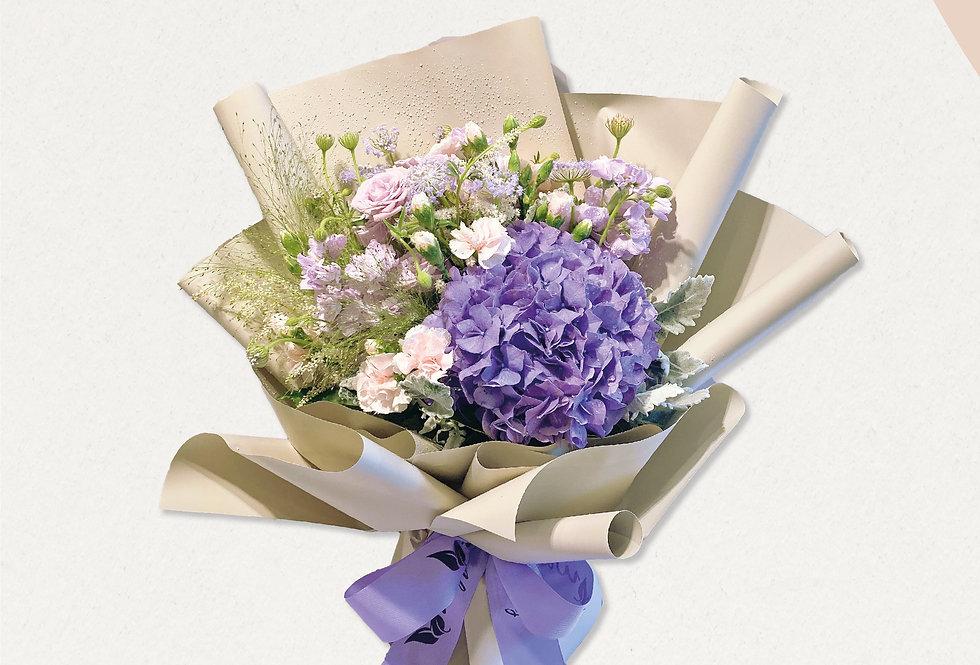 錫哂媽媽紫色系花束