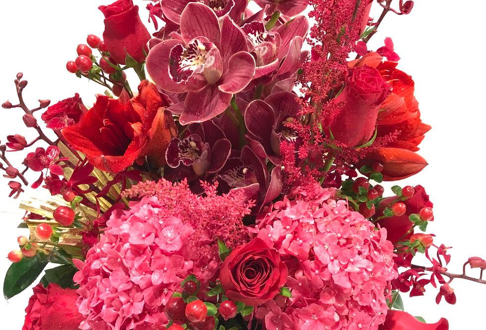 蕙蘭繡球玫瑰枱花