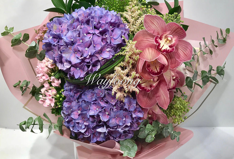 繡球蕙蘭花束
