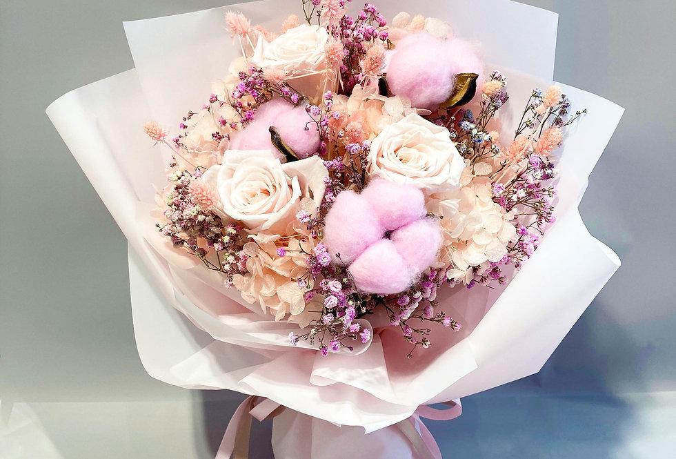 粉色系永生花花束