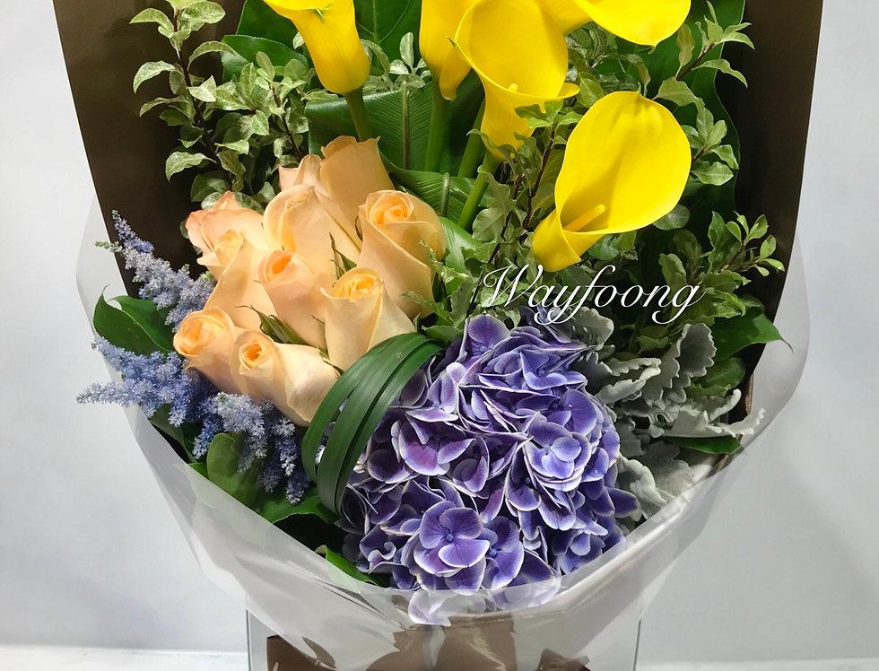 馬蹄蘭花束