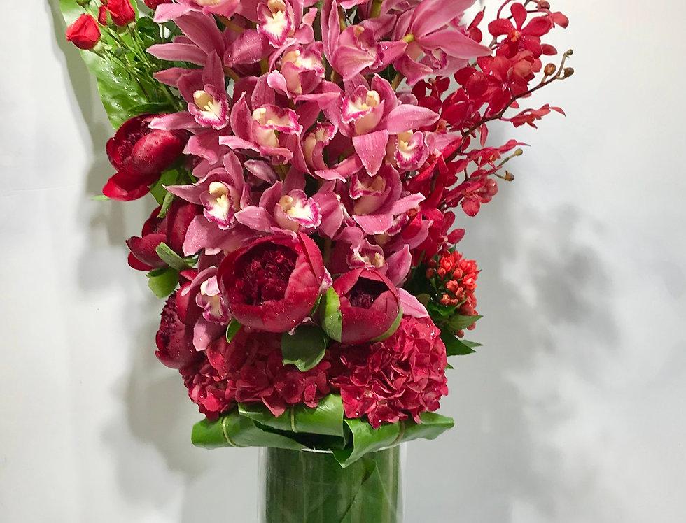 蕙蘭牡丹花樽花