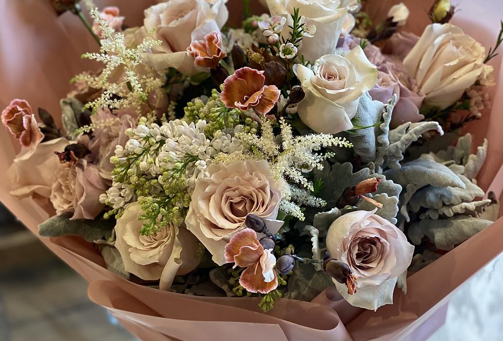 11枝外國玫瑰花束