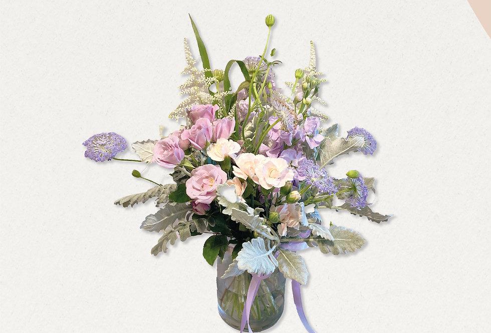 寵愛媽媽紫色系花樽花