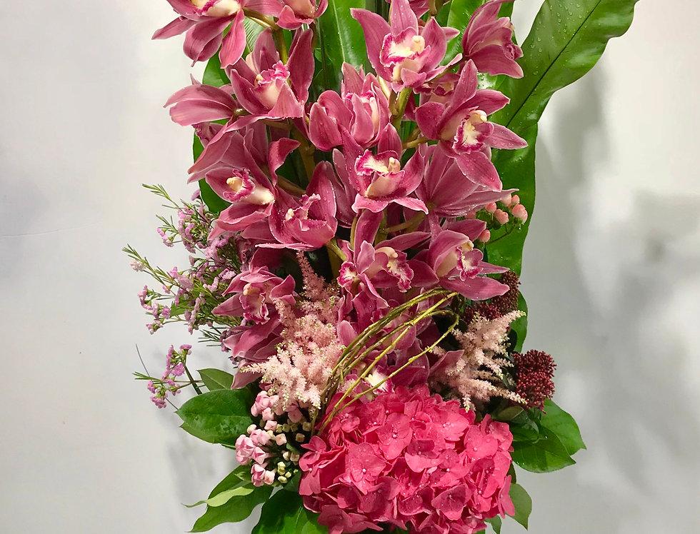 蕙蘭繡球花樽花