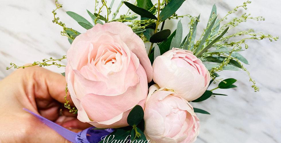 玫瑰牡丹襟花