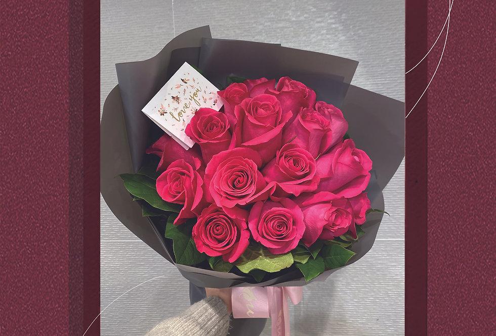 Rosa Rosa美國桃紅玫瑰花束