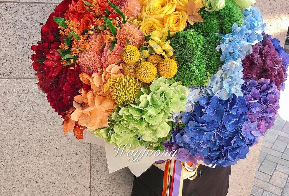 Rainbow彩虹花束
