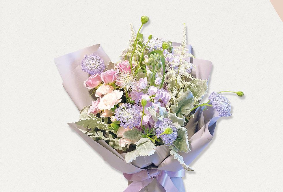 寵愛媽媽紫色系花束