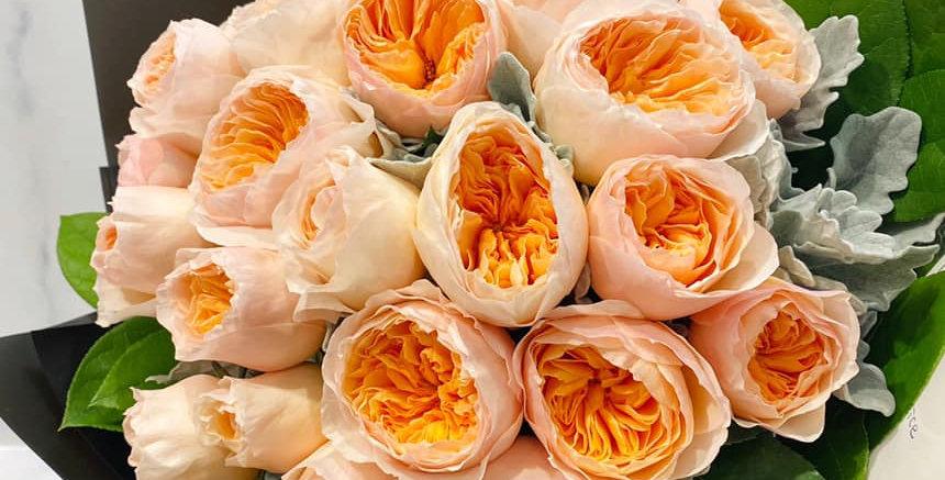 經典庭園玫瑰花束