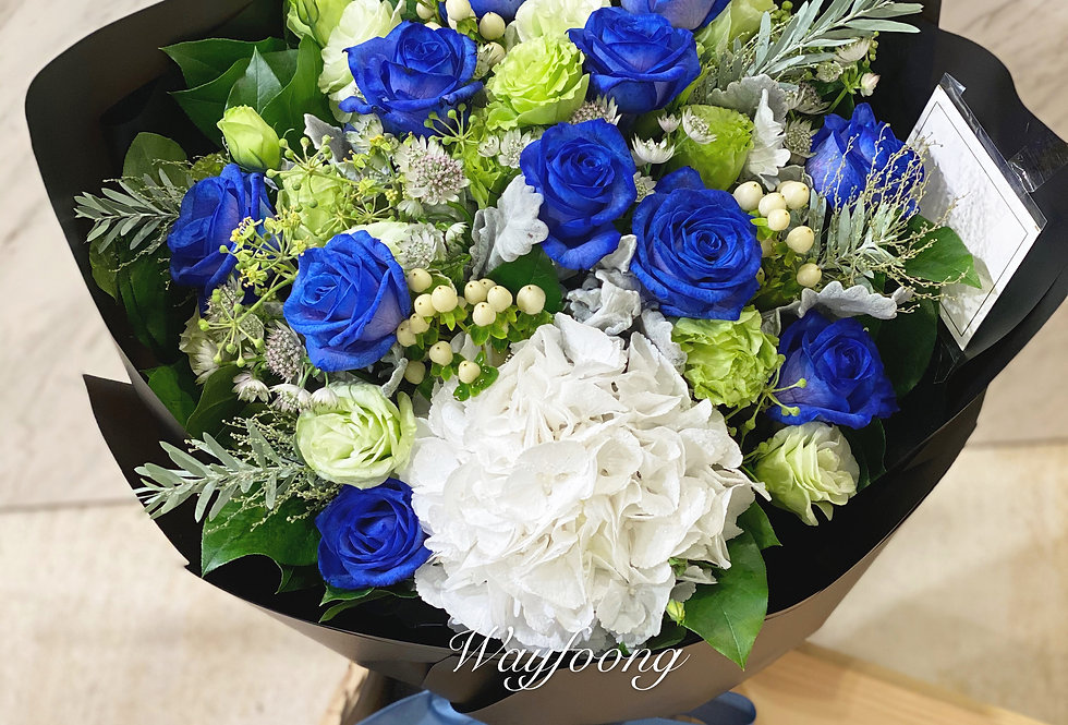 BLUE GARDEN 藍玫瑰花束