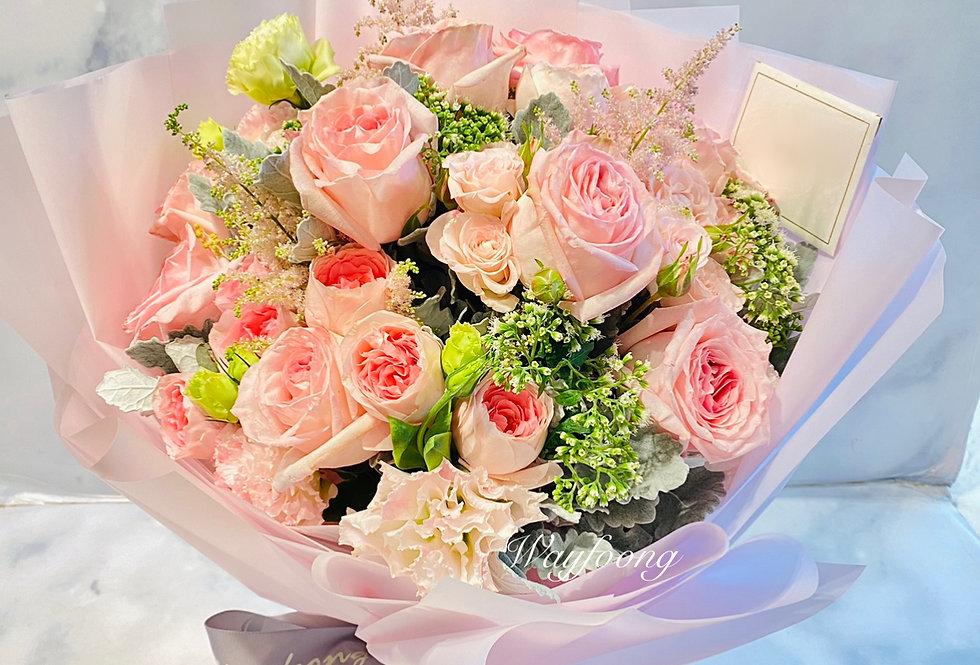 Pink Ohara玫瑰花束