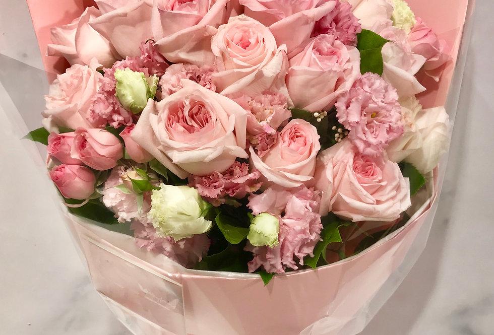 庭園玫瑰花束