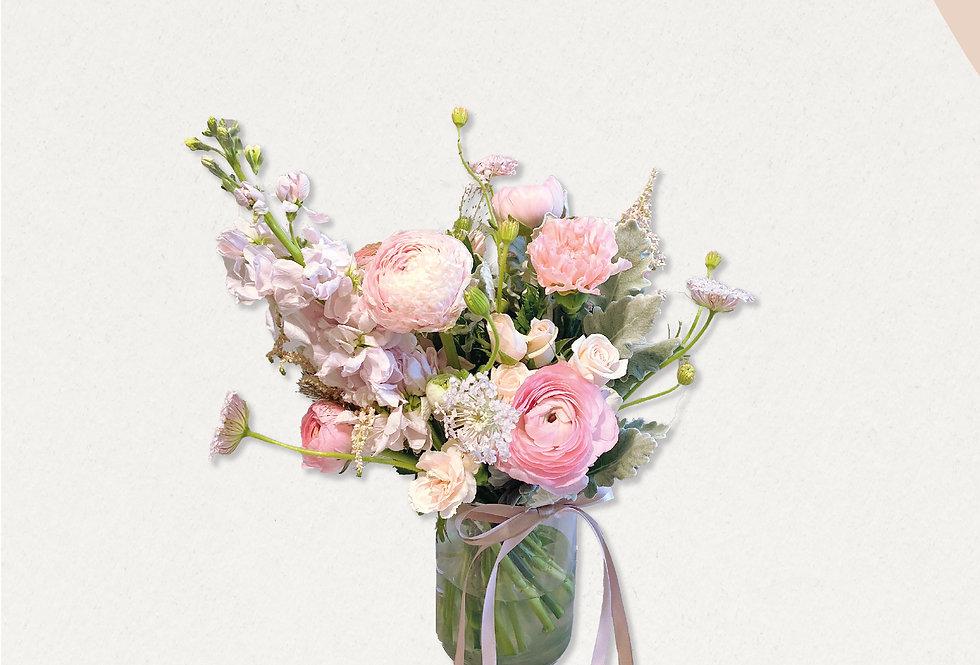 寵愛媽媽粉色系花樽花