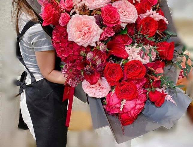 特大粉紅色系花束