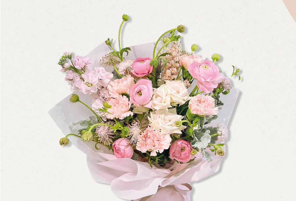 寵愛媽媽粉色系花束