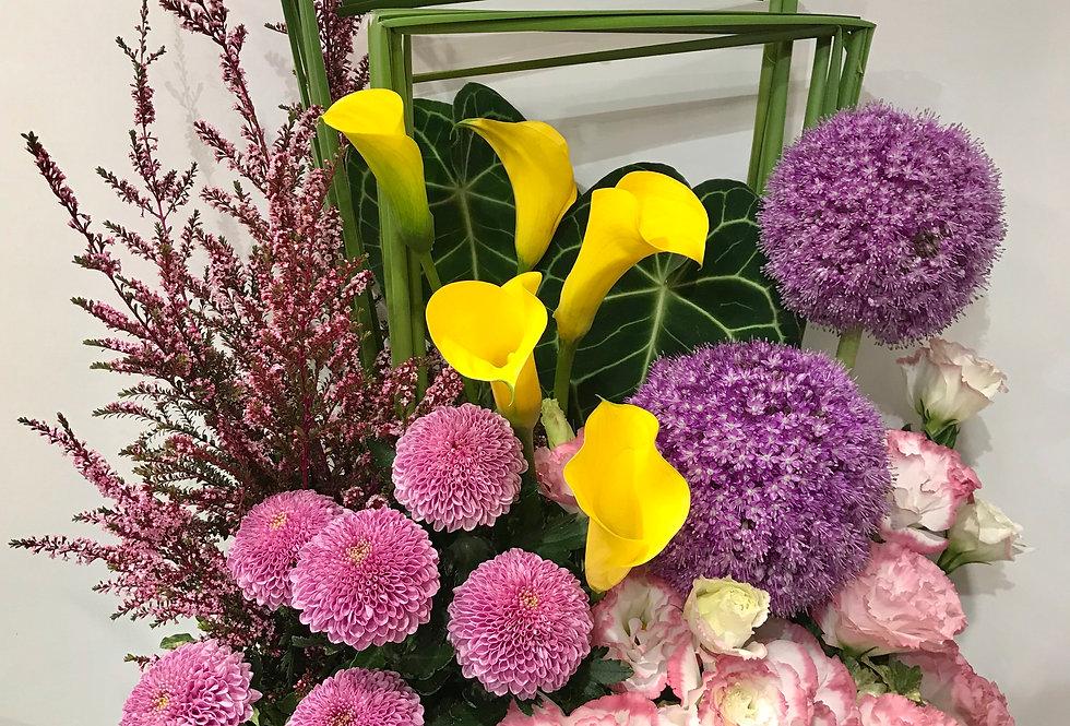 馬蹄蘭桔梗枱花