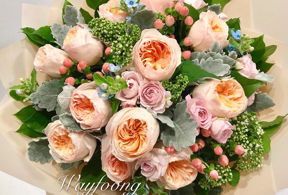 JULIET GARDEN 庭園玫瑰花束