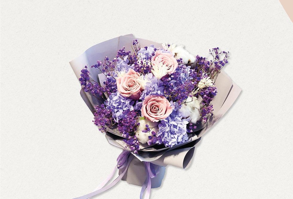 永愛媽媽紫色系永生花(價格適用於5月7日-5月11日)