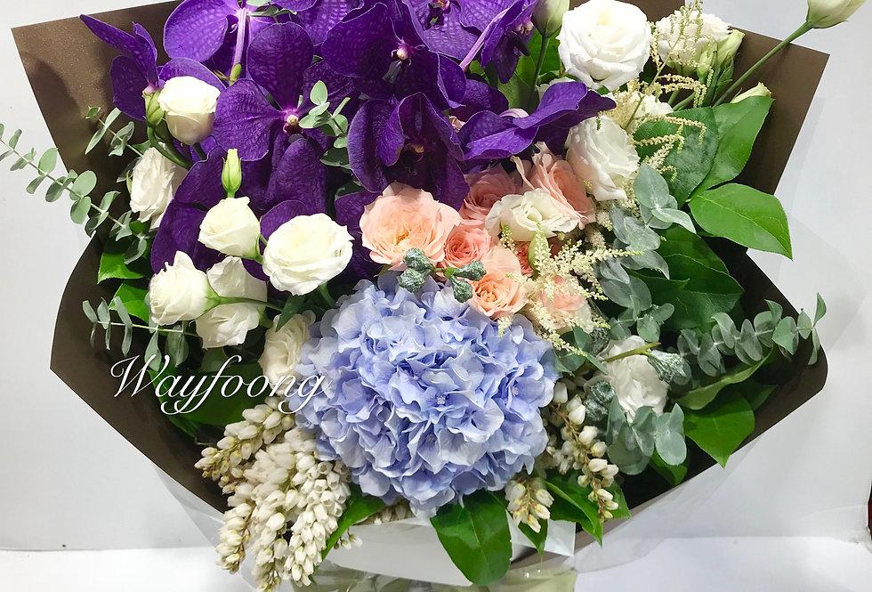 萬代蘭花束