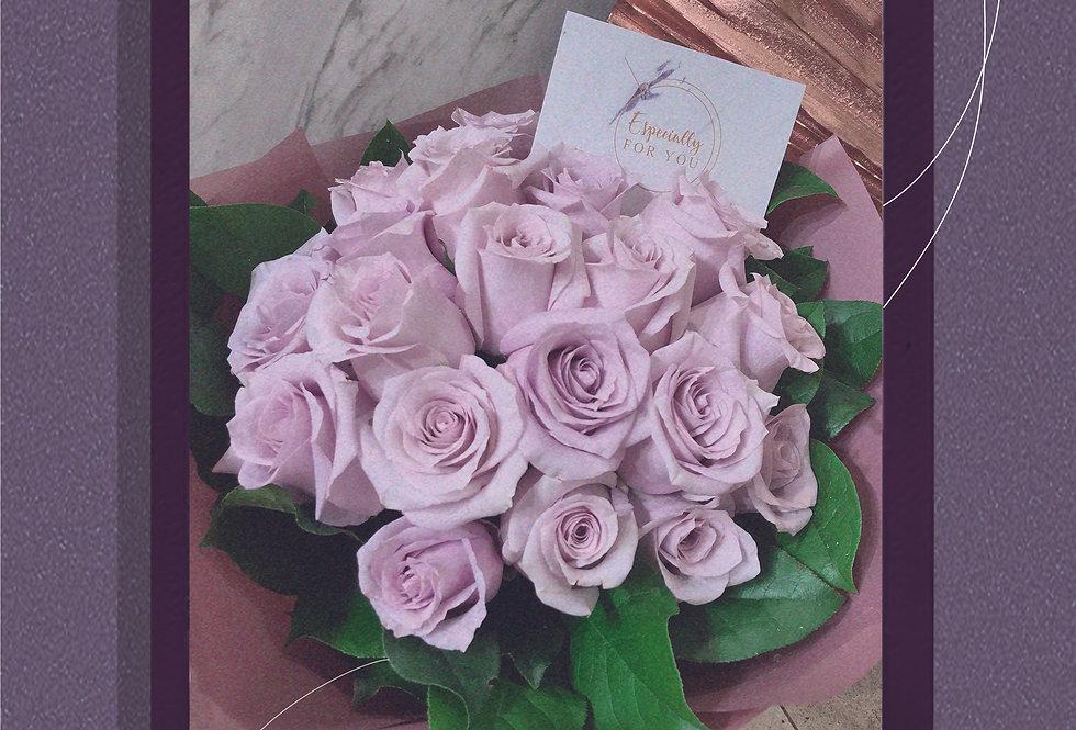 Velvet淡紫美國玫瑰花束