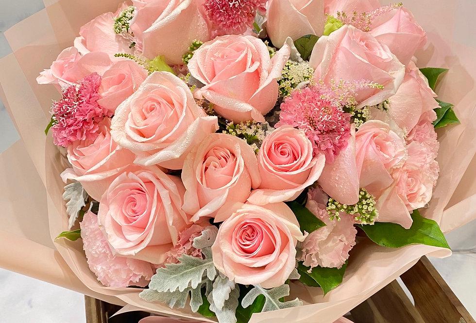 20枝外國玫瑰花束