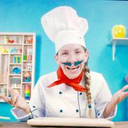 Juggling Chef on Set