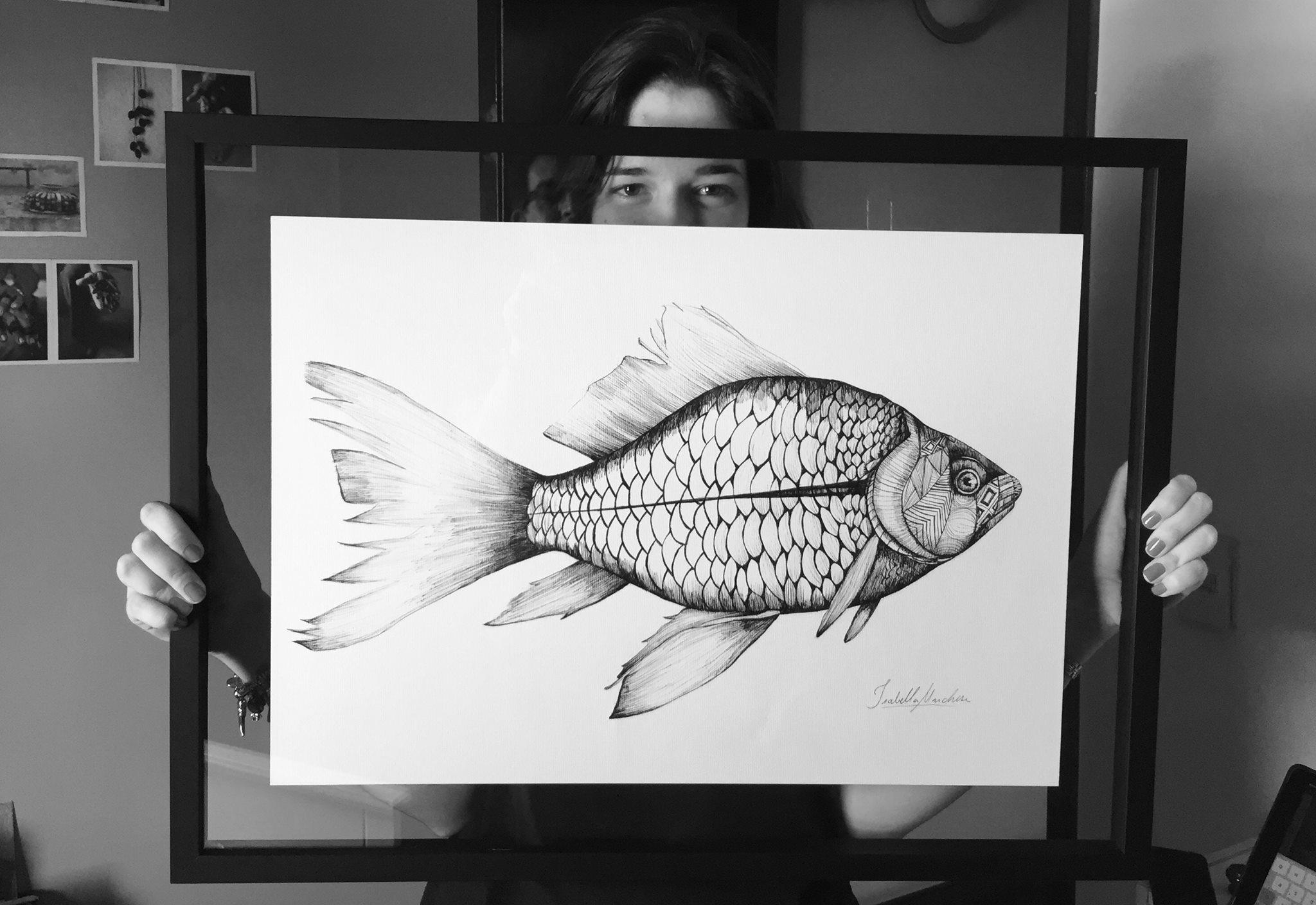Peixe Zentangle - A2