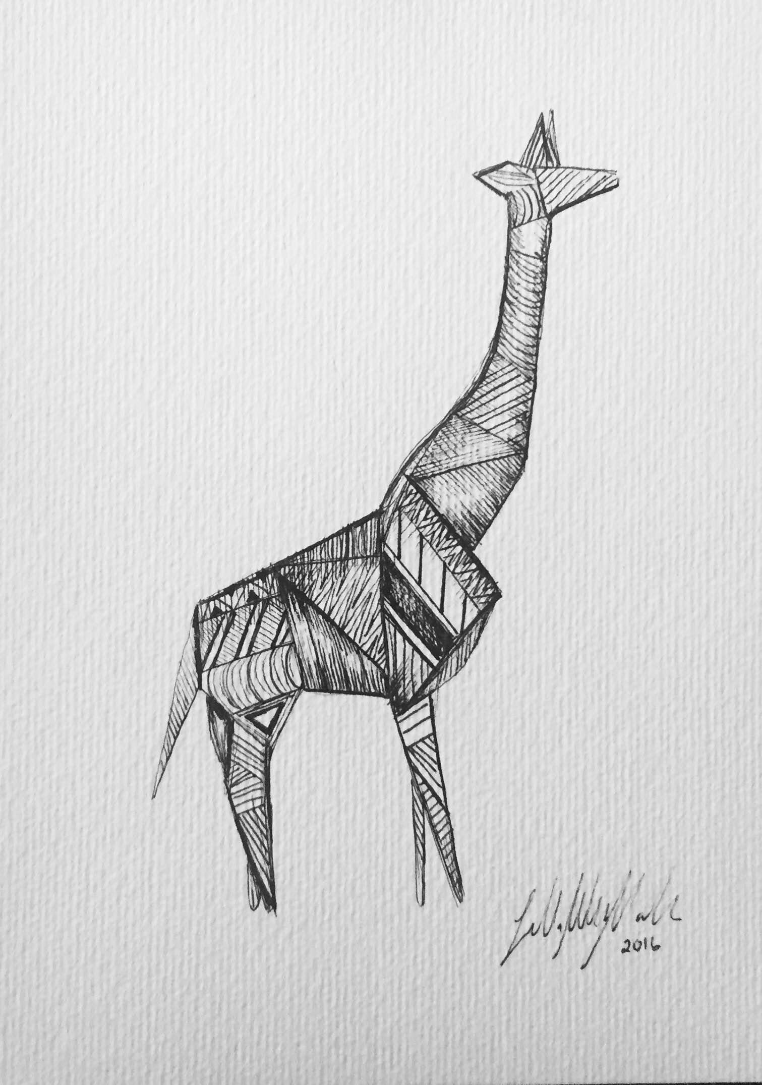 Girafa Origami-A5