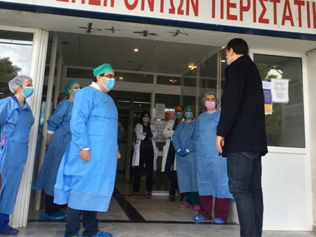 Δήλωση Υπουργού Υγείας Βασίλη Κικίλια μετά την επίσκεψή του στο Γενικό Παναρκαδικό Νοσοκομείο