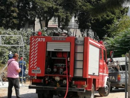 Σπινθήρες ηλεκτροσυγκόλλησης προκάλεσαν φωτιά στη Ρόδο - Συνελήφθησαν δύο άτομα
