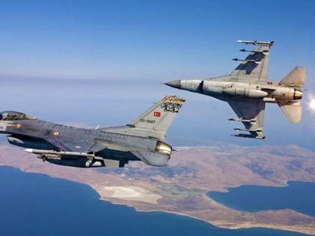 Υπερπτήσεις τουρκικών F-16 πάνω από τα Δωδεκάνησα