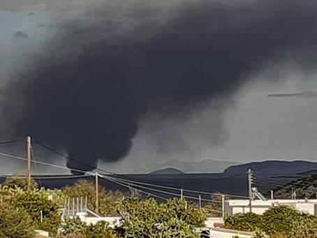 Φωτιά στο «Κάλυμνος Σταρ» ανοικτά της Νάξου, με τρεις επιβαίνοντες – Τραυματισμός μιας γυναίκας