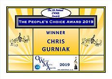 Peoples Choice 1st place Winner Chris Gu