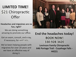 $21 Chiropractic Offer (limited time!)