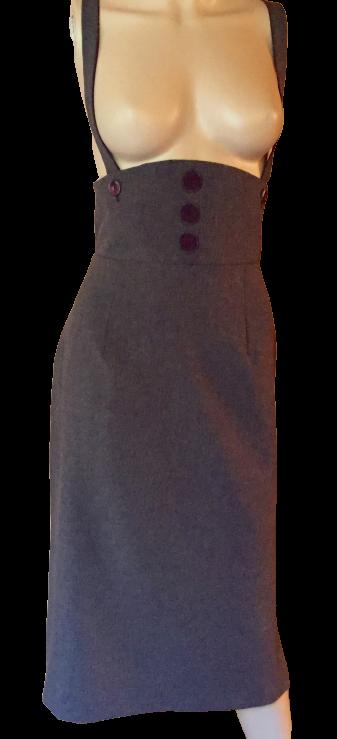 jupe salopette, pan réversible