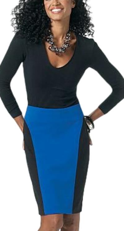 jupe fuseau bicolore