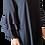 Thumbnail: Robe crêpe, incrustation dentelle