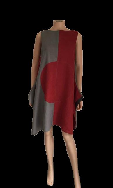 Robe bicolore sans manches