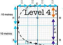 Level 4 Test Training with Tarsh HRCAV Horse Riding Club Association of Victoria Equestrian Australia Dressage Diagrams Cheat Sheets