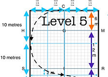 Level 5 Test Training with Tarsh HRCAV Horse Riding Club Association of Victoria Equestrian Australia Dressage Diagrams Cheat Sheets