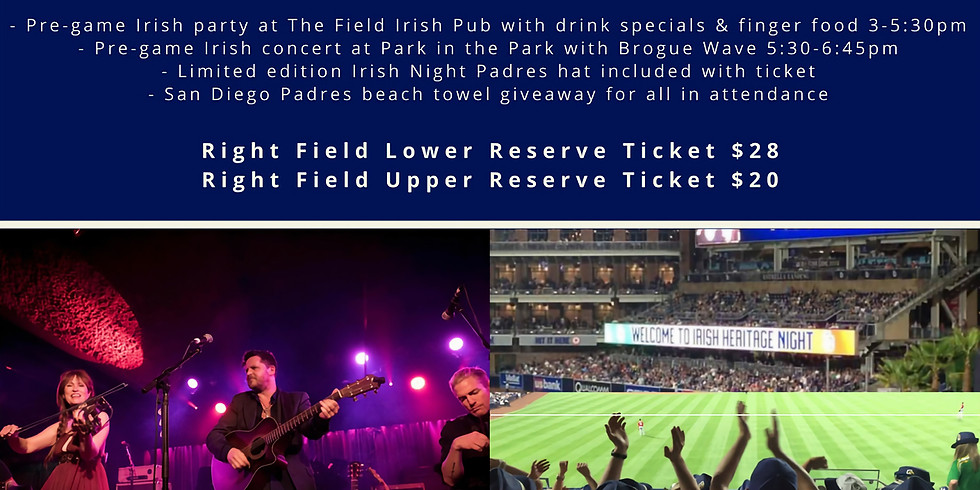 Irish Night - Padres vs. Tigers