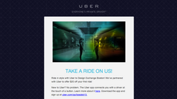 Uber Special Email template