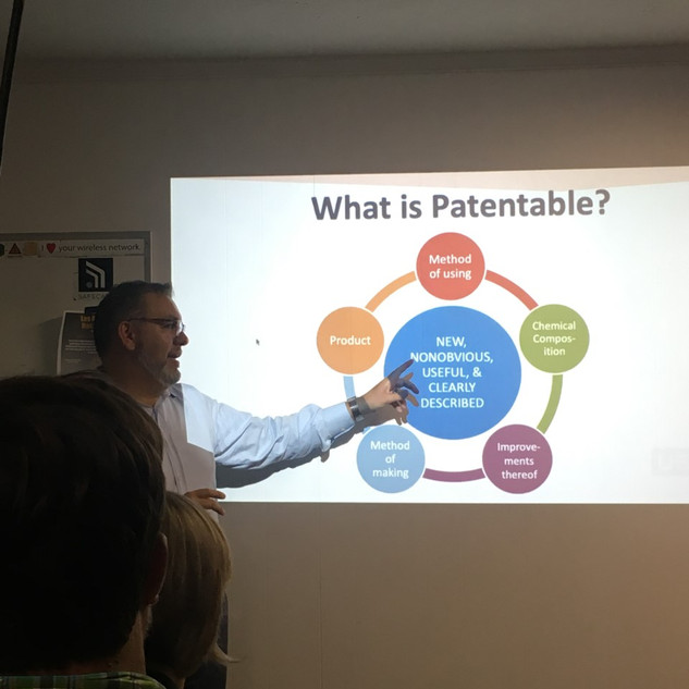 """'What is Patentable?"""" by John Cabeca (USPTO)"""