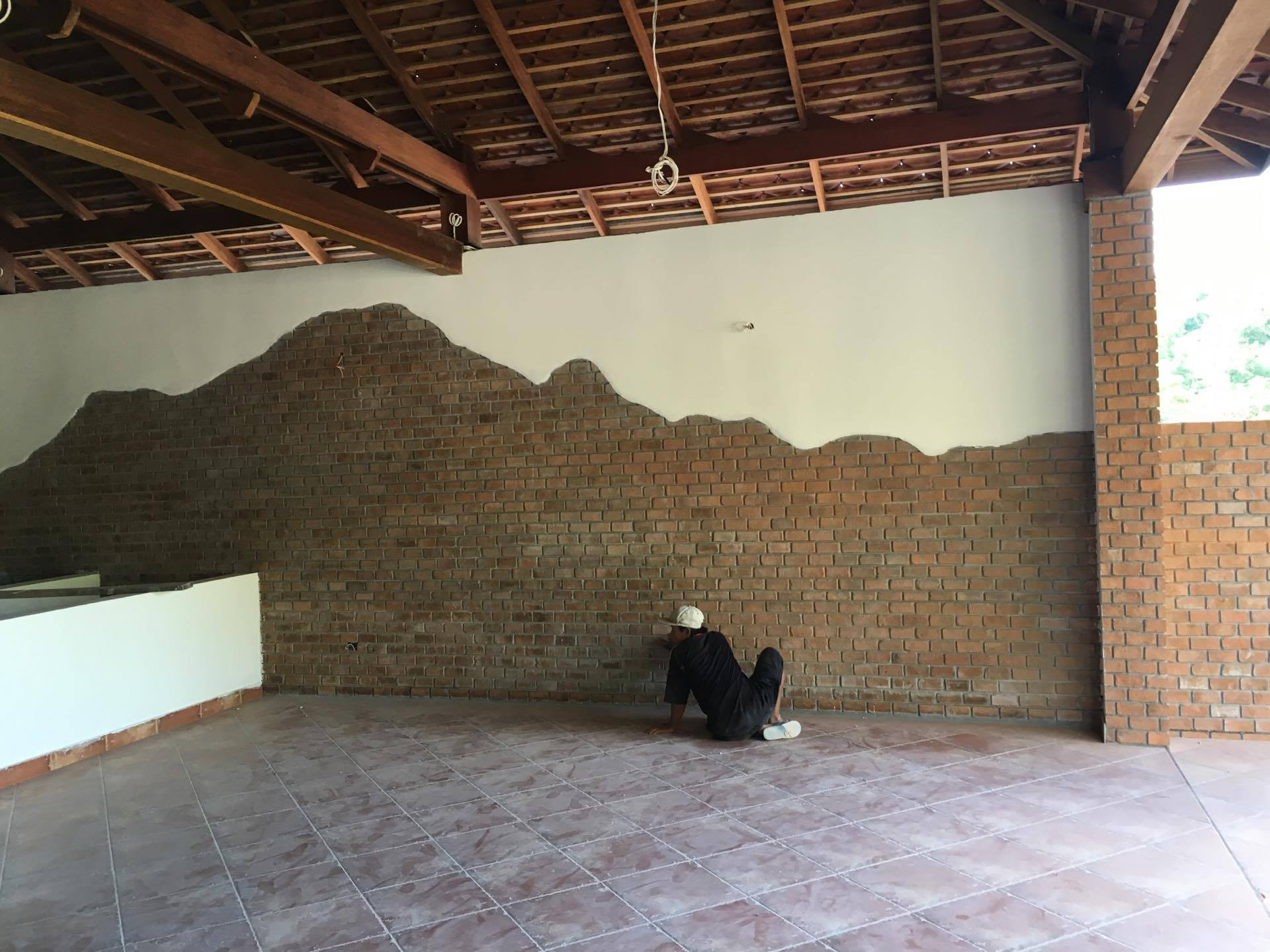 Brick feature walls