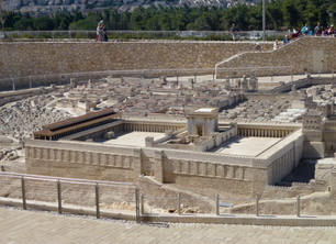 Scale model of the Temple in Jesus' time on display in Jerusalem