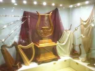 Biblical instruments on display in Jerusalem
