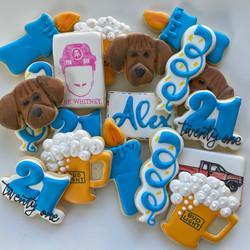 Birthday decorated cookies
